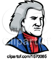 Clipart Of A Mascot Of Thomas Jefferson Royalty Free Vector Illustration by patrimonio