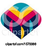 Clipart Of A Colorful Textile Design Royalty Free Vector Illustration