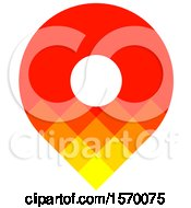 Clipart Of A Red Orange And Yellow Map Pin Design Royalty Free Vector Illustration