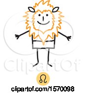 Leo Horoscope Astrology Zodiac Stick Man As A Lion