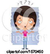 Clipart Of A Careless Shrugging Hispanic Teen Girl Royalty Free Vector Illustration