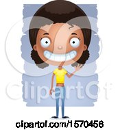 Clipart Of A Friendly Waving Black Teen Girl Royalty Free Vector Illustration