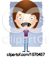 Clipart Of A Scared White Teen Girl Royalty Free Vector Illustration