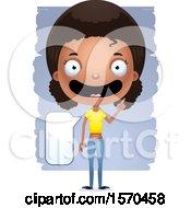 Clipart Of A Smart Talking Black Teen Girl Royalty Free Vector Illustration