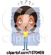 Clipart Of A Careless Shrugging Black Teen Girl Royalty Free Vector Illustration