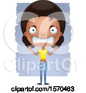 Clipart Of A Mad Black Teen Girl Royalty Free Vector Illustration