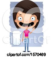 Clipart Of A Smart Talking Hispanic Teen Girl Royalty Free Vector Illustration