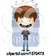 Clipart Of A Drunk White Teen Boy Royalty Free Vector Illustration