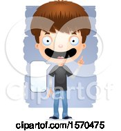 Clipart Of A Smart Talking White Teen Boy Royalty Free Vector Illustration