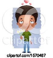 Poster, Art Print Of Romantic Black Teen Boy