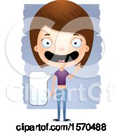 Clipart Of A Smart Talking White Teen Girl Royalty Free Vector Illustration