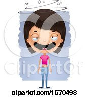 Clipart Of A Hispanic Teen Girl Royalty Free Vector Illustration