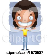 Clipart Of A Happy Black Teen Girl Royalty Free Vector Illustration