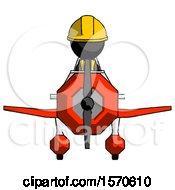 Black Construction Worker Contractor Man In Geebee Stunt Plane Front View