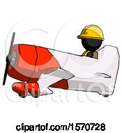 Black Construction Worker Contractor Man In Geebee Stunt Aircraft Side View