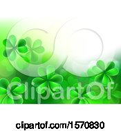 St Patricks Day Background With Green Shamrocks And Text Space