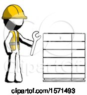 Ink Construction Worker Contractor Man Server Administrator Doing Repairs