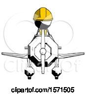 Ink Construction Worker Contractor Man In Geebee Stunt Plane Front View