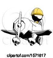 Ink Construction Worker Contractor Man Flying In Geebee Stunt Plane Viewed From Below