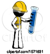 Ink Construction Worker Contractor Man Holding Large Test Tube