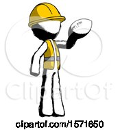 Ink Construction Worker Contractor Man Holding Football Up