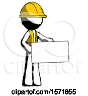 Ink Construction Worker Contractor Man Presenting Large Envelope