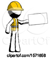 Ink Construction Worker Contractor Man Holding Large Envelope