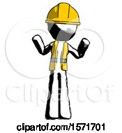 Ink Construction Worker Contractor Man Shrugging Confused