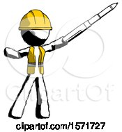 Ink Construction Worker Contractor Man Demonstrating That Indeed The Pen Is Mightier