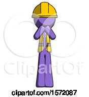 Purple Construction Worker Contractor Man Laugh Giggle Or Gasp Pose