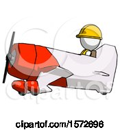 White Construction Worker Contractor Man In Geebee Stunt Aircraft Side View