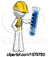 White Construction Worker Contractor Man Holding Large Test Tube