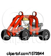 Poster, Art Print Of White Construction Worker Contractor Man Riding Sports Buggy Side Angle View