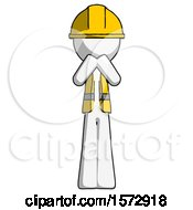 White Construction Worker Contractor Man Laugh Giggle Or Gasp Pose