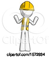 White Construction Worker Contractor Man Shrugging Confused