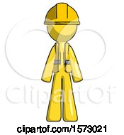 Yellow Construction Worker Contractor Man Standing Facing Forward