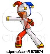 June 19th, 2018: Orange Jester Joker Man Martial Arts Punch Left by Leo Blanchette