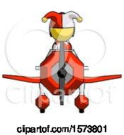 Yellow Jester Joker Man In Geebee Stunt Plane Front View