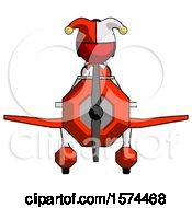 Red Jester Joker Man In Geebee Stunt Plane Front View
