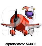 Purple Jester Joker Man Flying In Geebee Stunt Plane Viewed From Below
