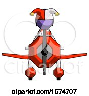 Purple Jester Joker Man In Geebee Stunt Plane Front View