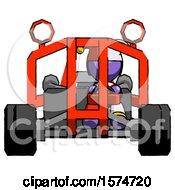 Purple Jester Joker Man Riding Sports Buggy Front View