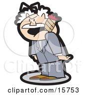 Short And Tempermental Man Smoking A Cigar