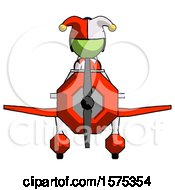 Green Jester Joker Man In Geebee Stunt Plane Front View