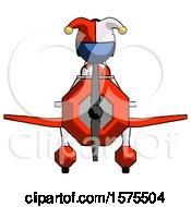 Blue Jester Joker Man In Geebee Stunt Plane Front View