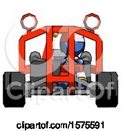 Blue Jester Joker Man Riding Sports Buggy Front View