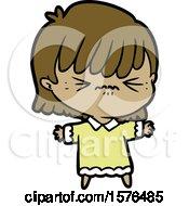 Annoyed Cartoon Girl