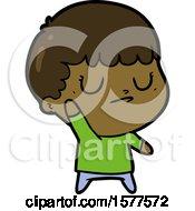 Cartoon Grumpy Boy
