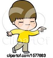 Cartoon Smug Boy