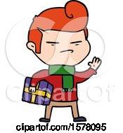 Cartoon Cool Guy With Fashion Hair Cut